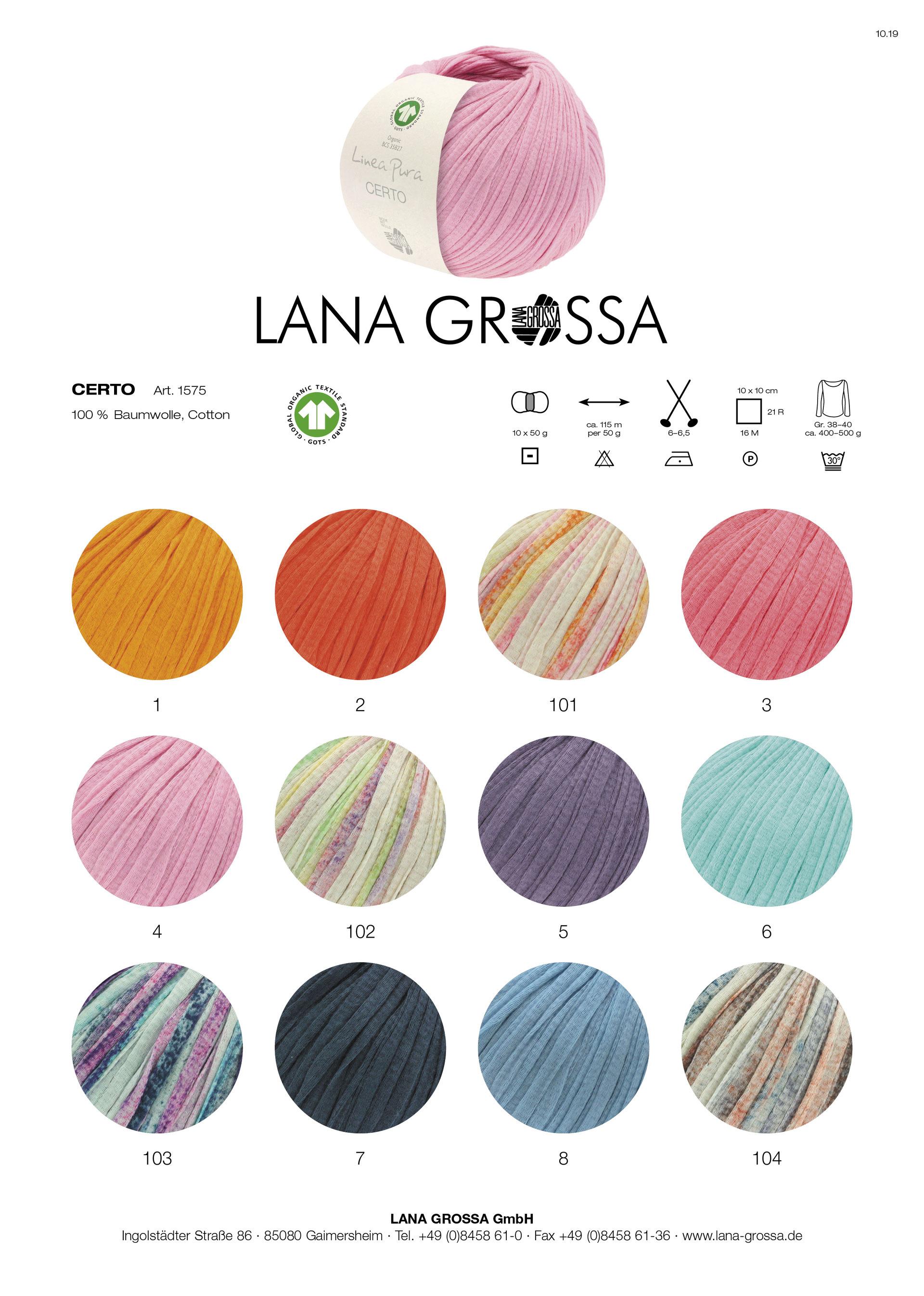 Wolle Kreativ Lana Grossa Wakame print 101 weiß//rosa//pink 50 g
