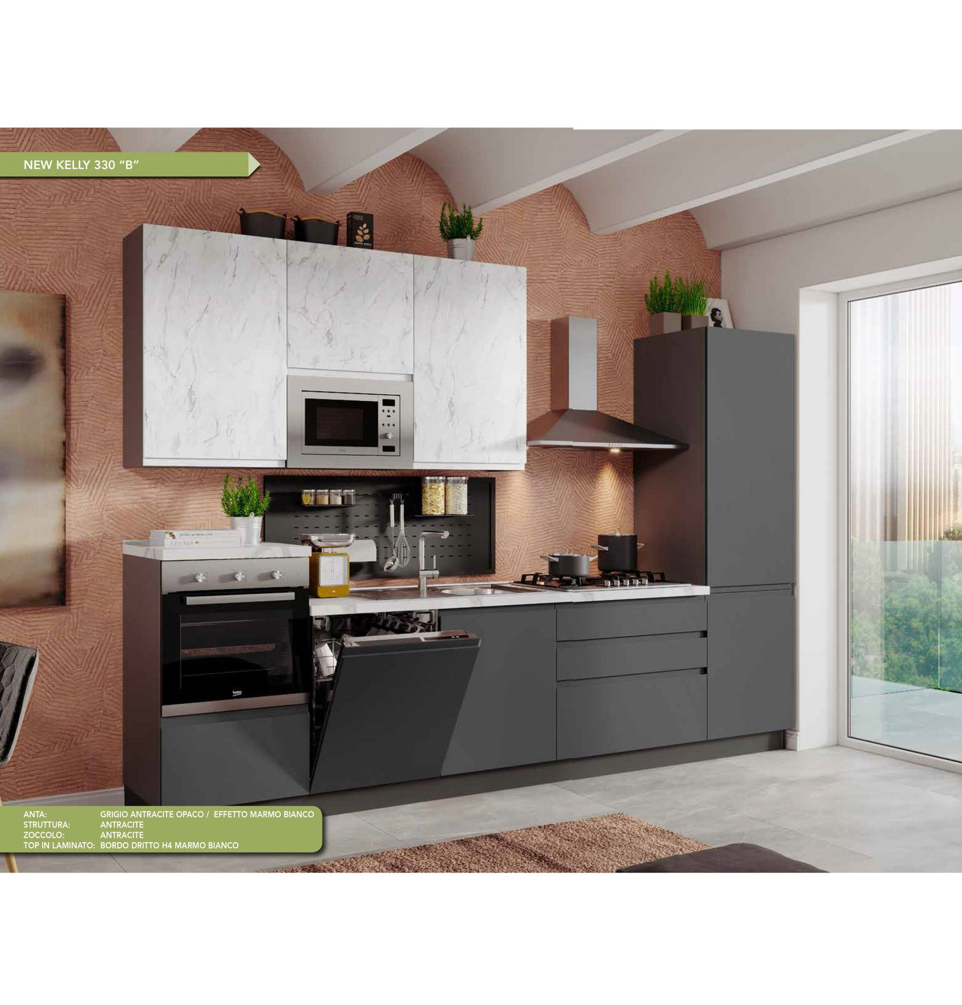 Cucina Moderna Completa Elettrodomestici.Le Cucine Componibili Moderne Benvenuti Su Outletarredamentipietrobonfa