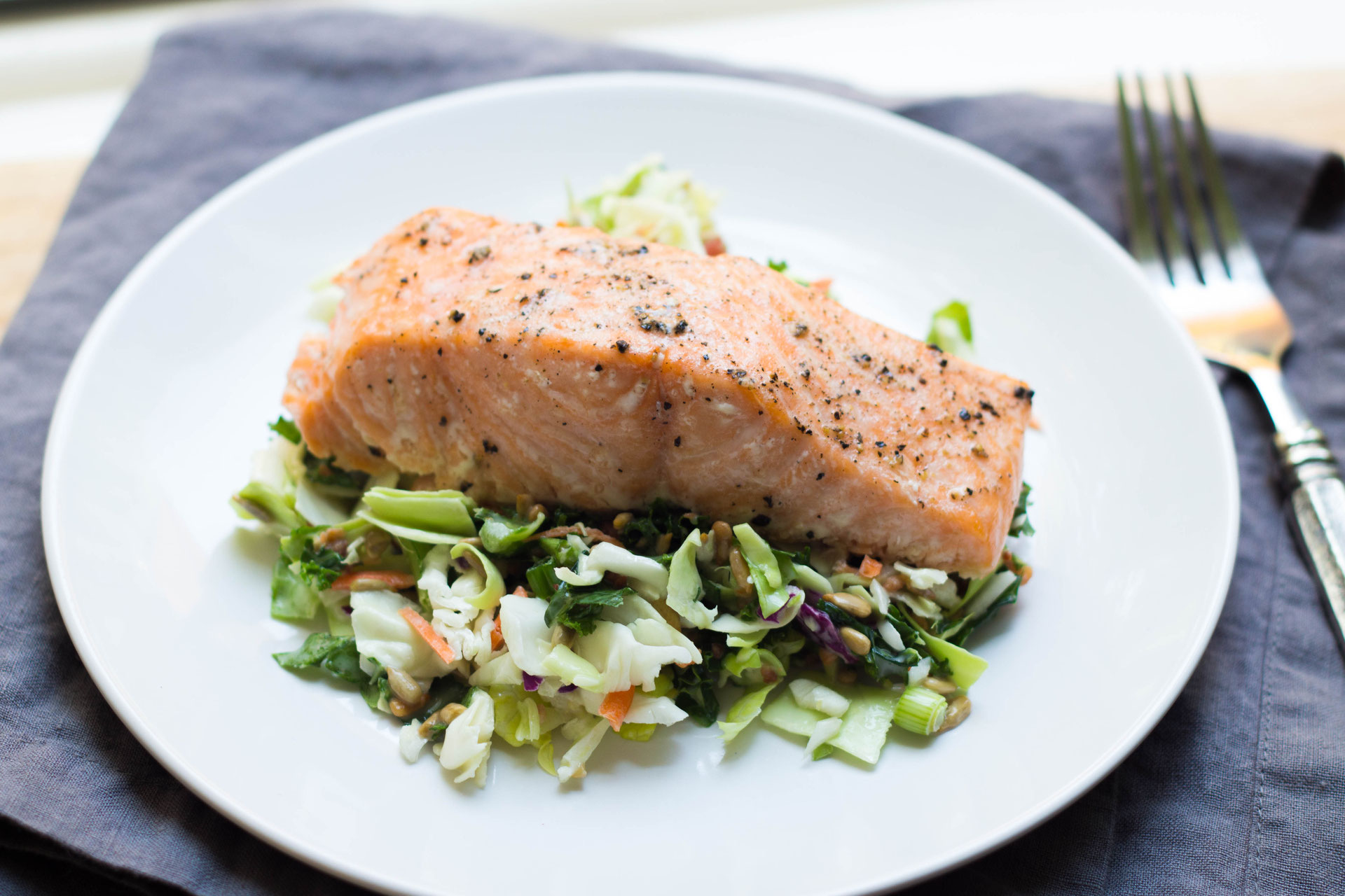 Easy Baked Salmon With Chopped Salad