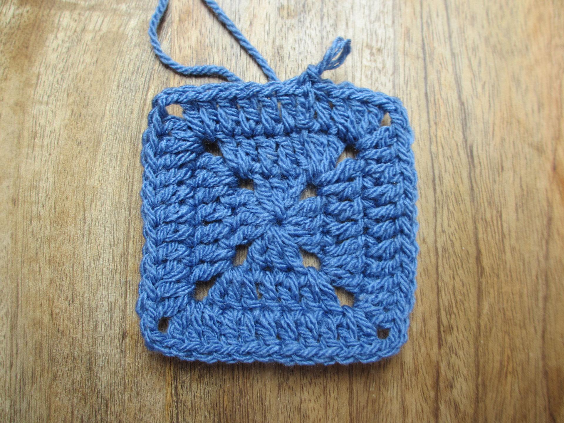 Tutorial Solid Granny Square Häkeln Macht Glücklich Crochet