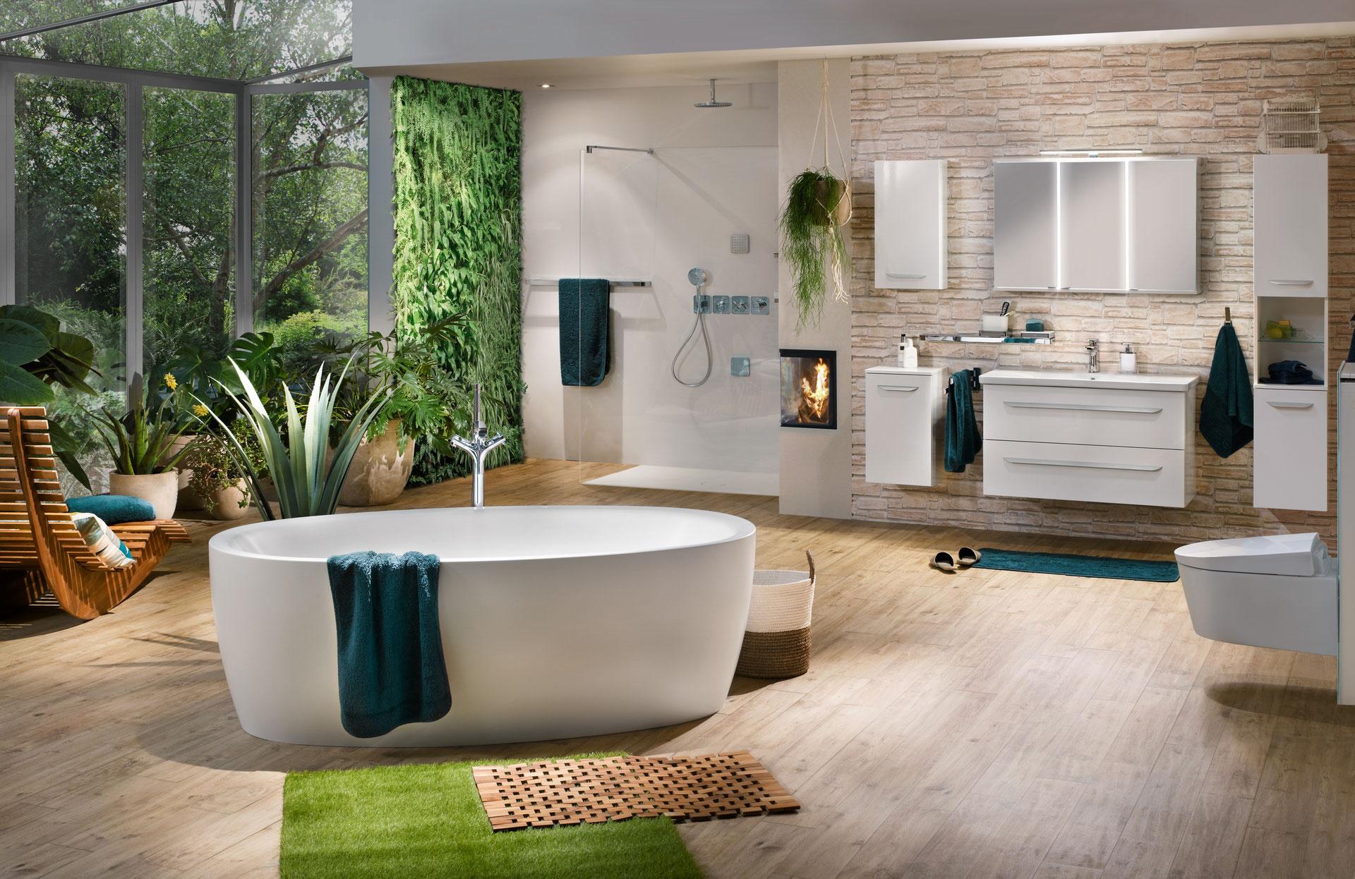 Bringen Sie die Unbeschwertheit der Natur in Ihr Badezimmer ...