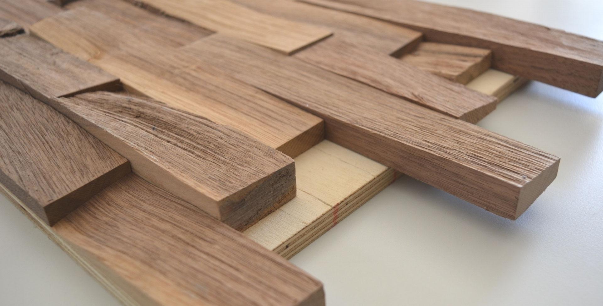 Top Massivholz auf Trägerplatte - Wandverkleidung aus Holz WJ11