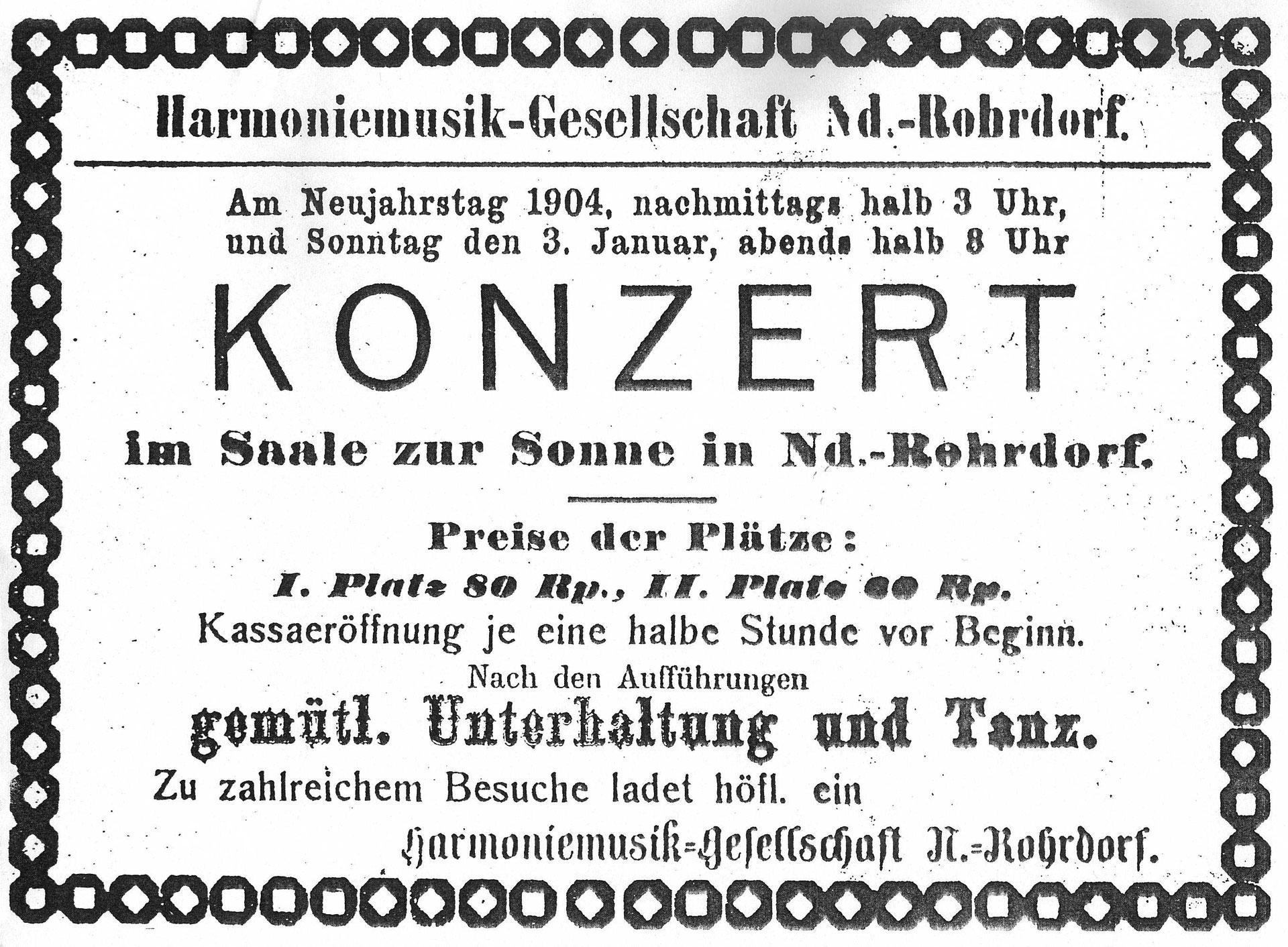 Geschichte - Harmonie Rohrdorf