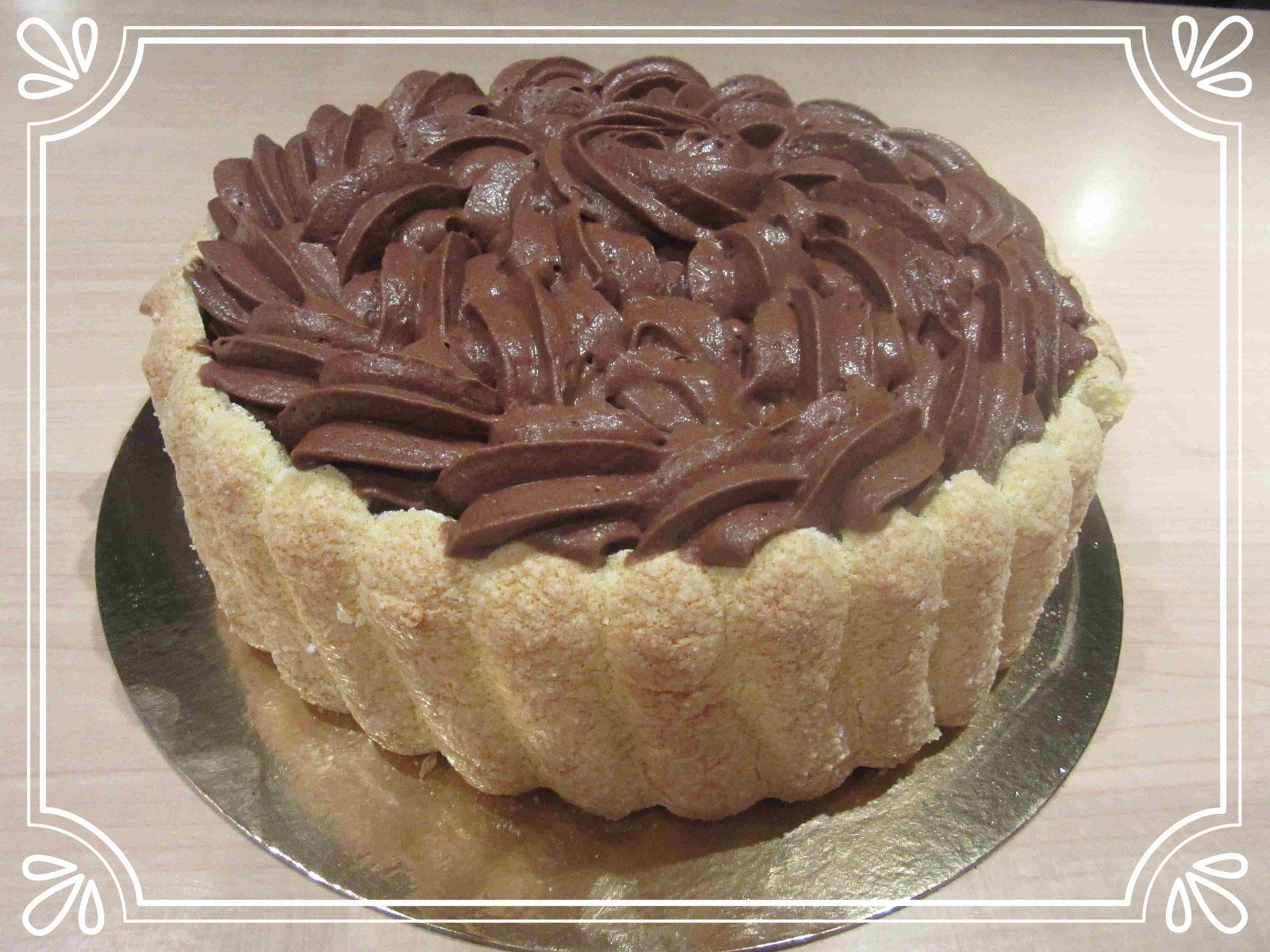 Recette Charlotte Au Chocolat Sans Oeuf recette du gâteau lenôtre : charlotte vanille chocolat