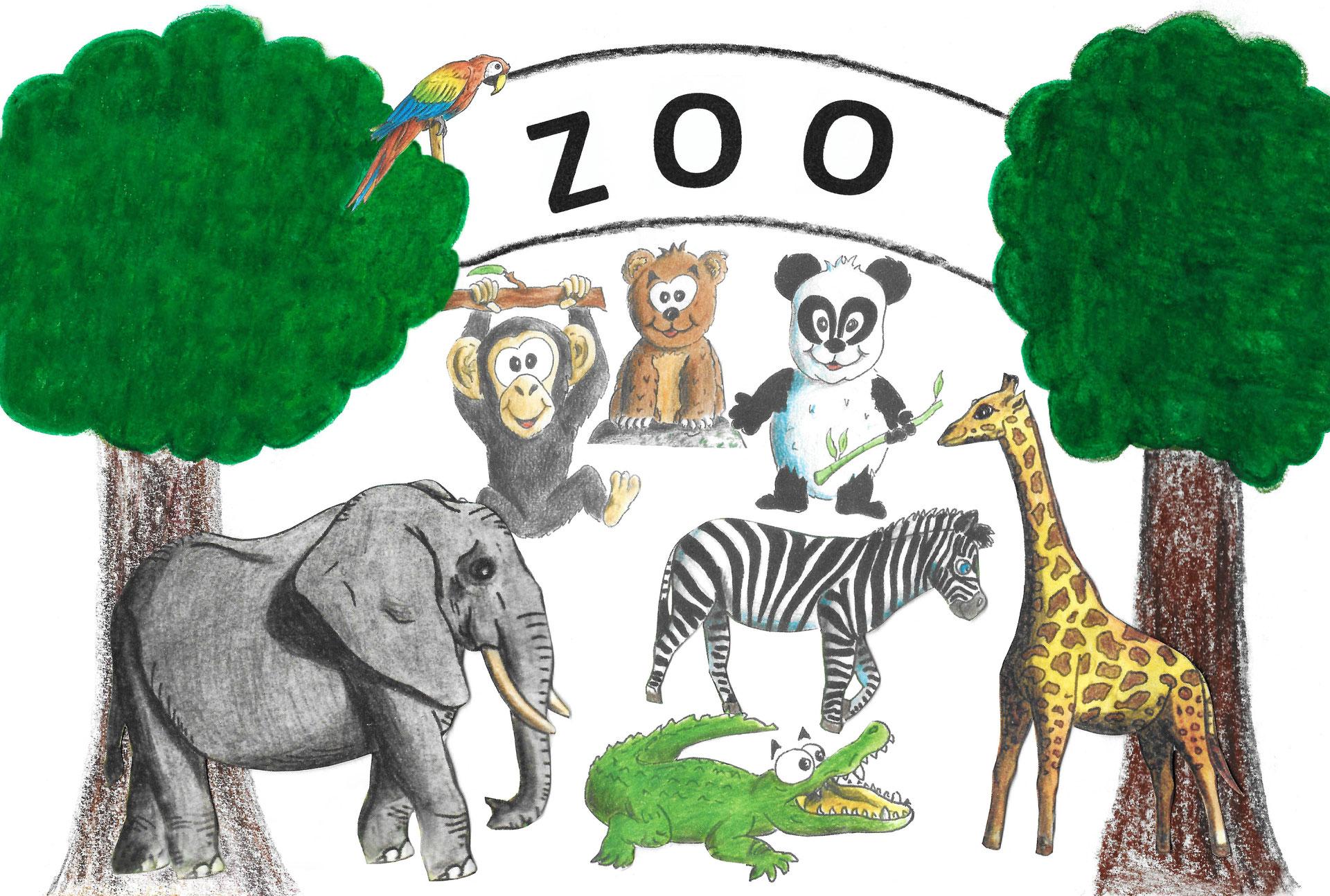 Resultado de imagen para vocabulaire des animaux du zoo