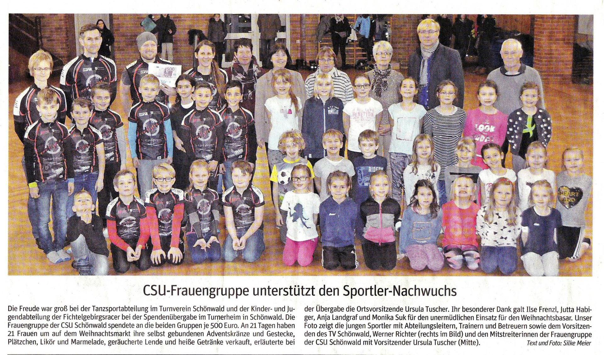 20 12 2017 CSU-Frauengruppe fördert den Sportler-Nachwuchs