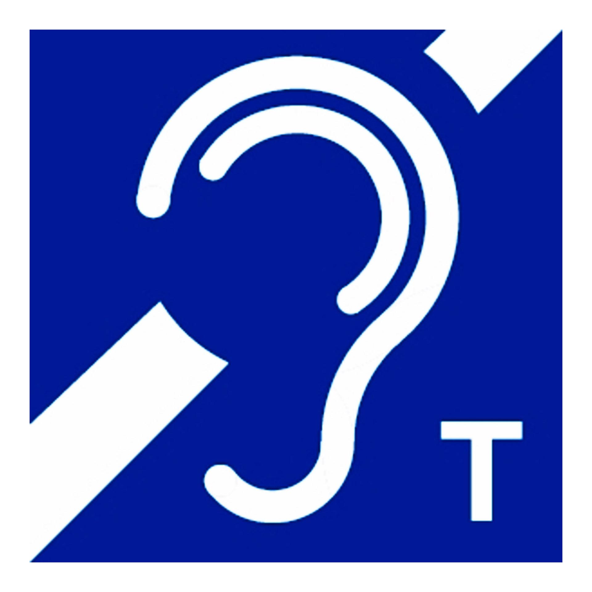 Symbol für induktive Höranlagen - induktive Höranlagen für Schwerhörige