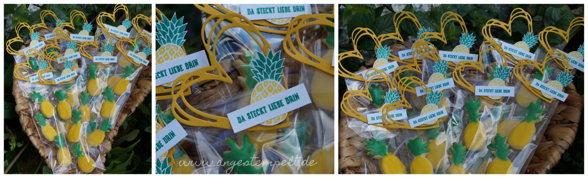 Sommerplätzchen ananasinis angestempelt stempel ideen und zubehör stin up