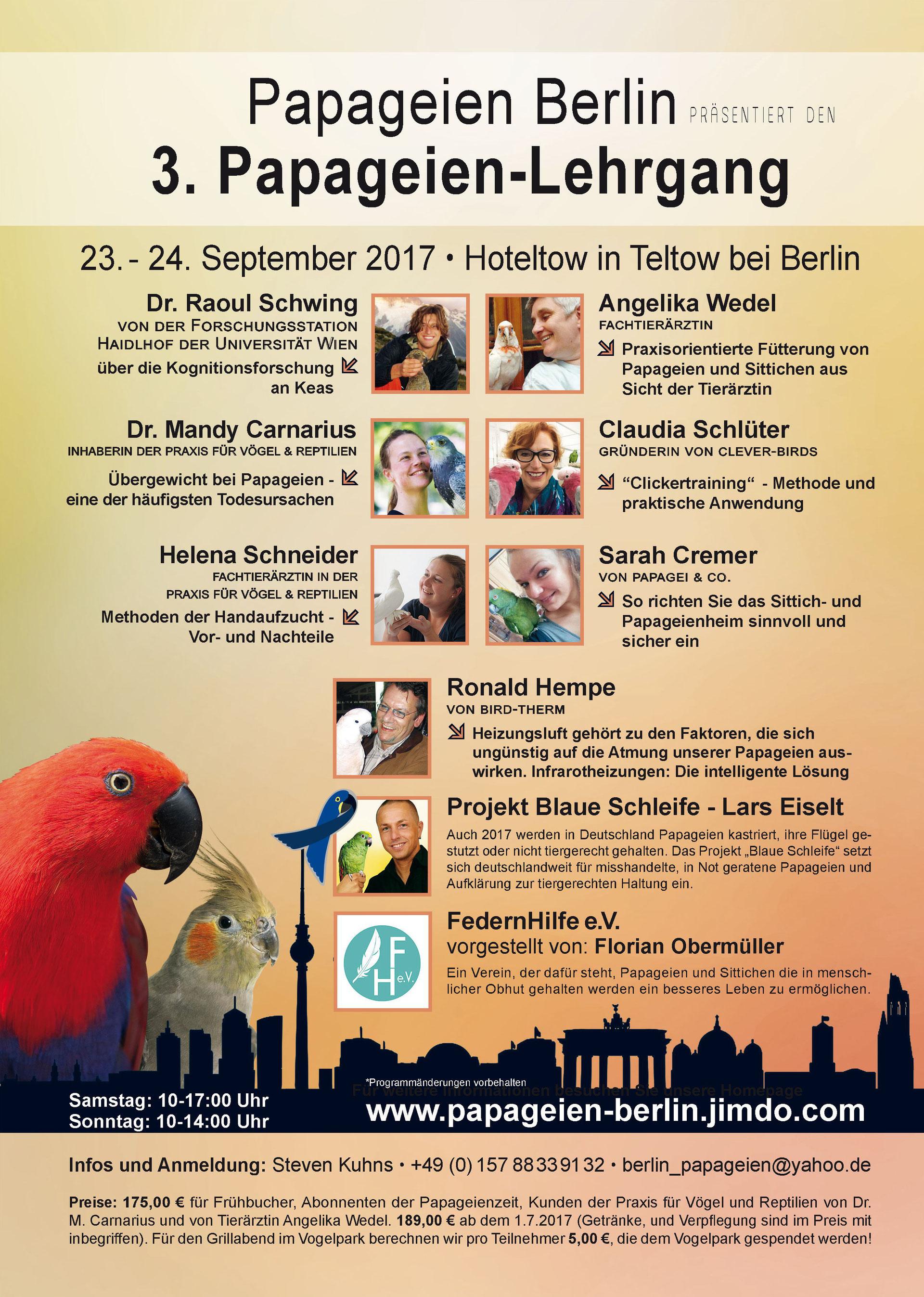 3. Papageienlehrgang 2017 - papageien-berlins Webseite!