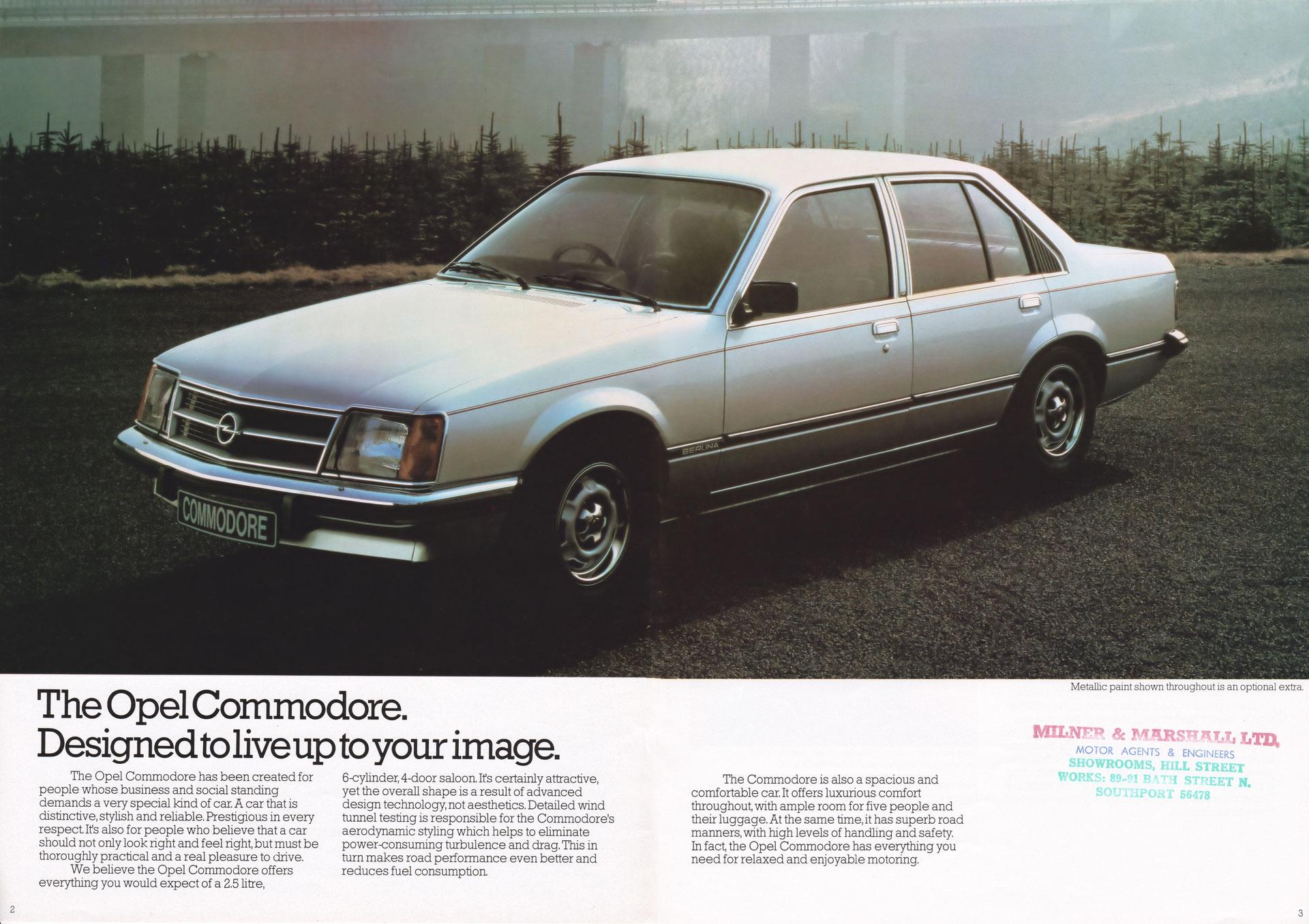 opel commodore c 11/81 uk