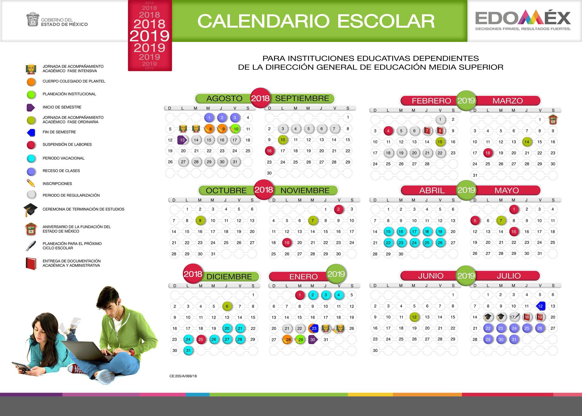 Calendario 20017.Calendario Escolar Cbt No 2 Tecamac Lic Carlos Pichardo