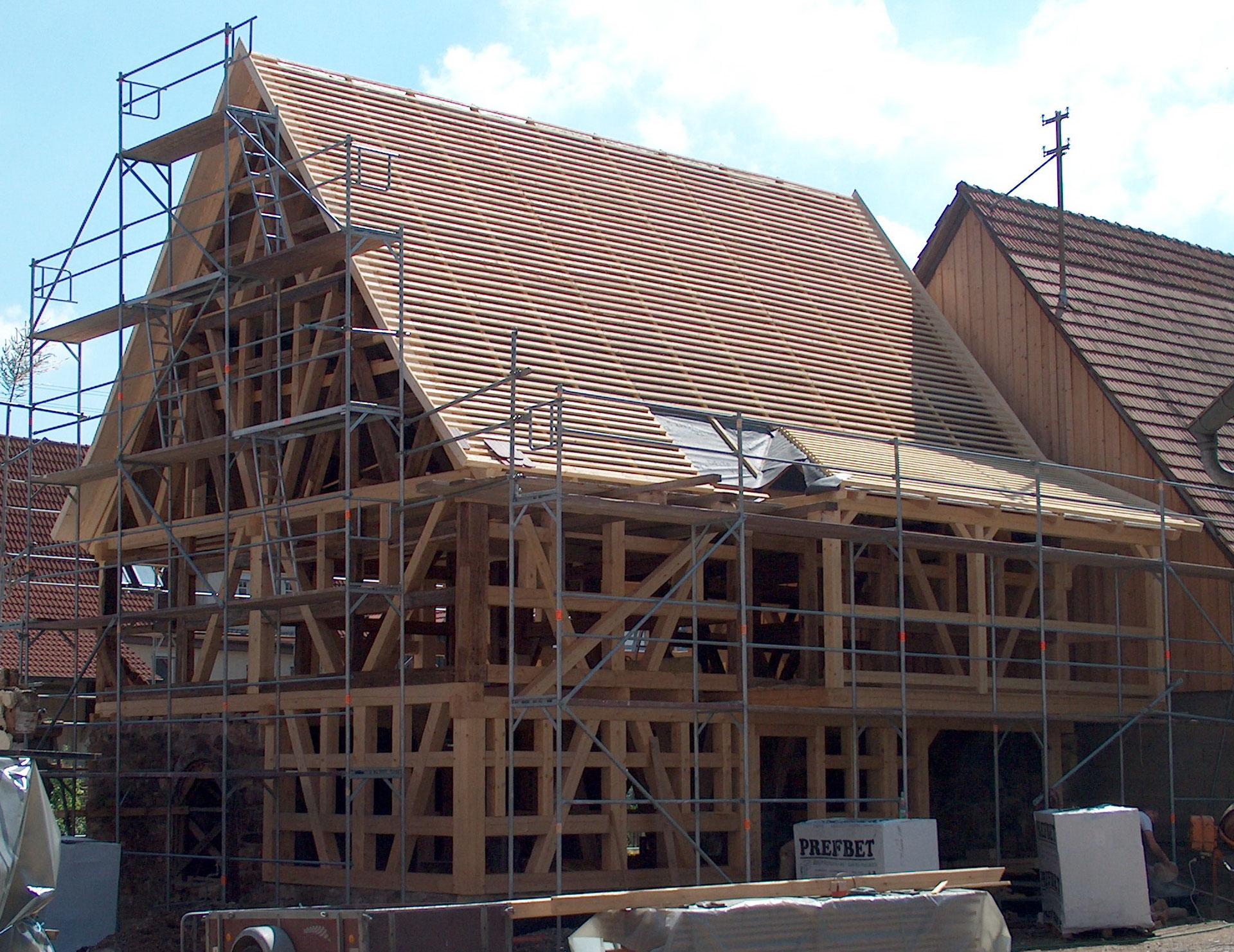 Fachwerkhaus neu bauen die fachwerkbauer for Fachwerkhaus bauen