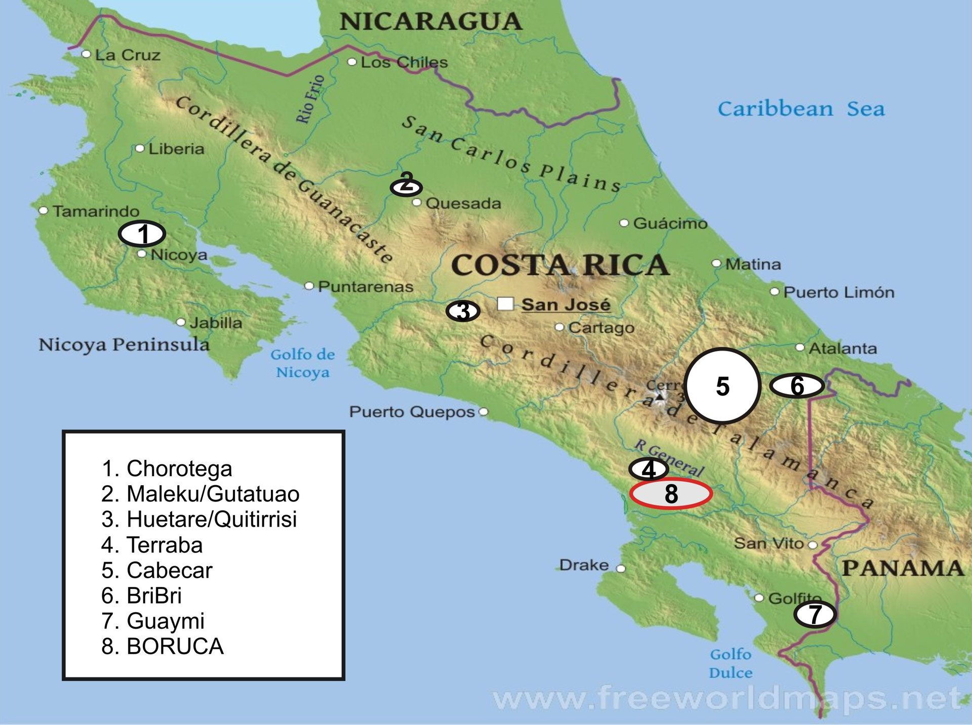 Indigenous groups in Costa Rica
