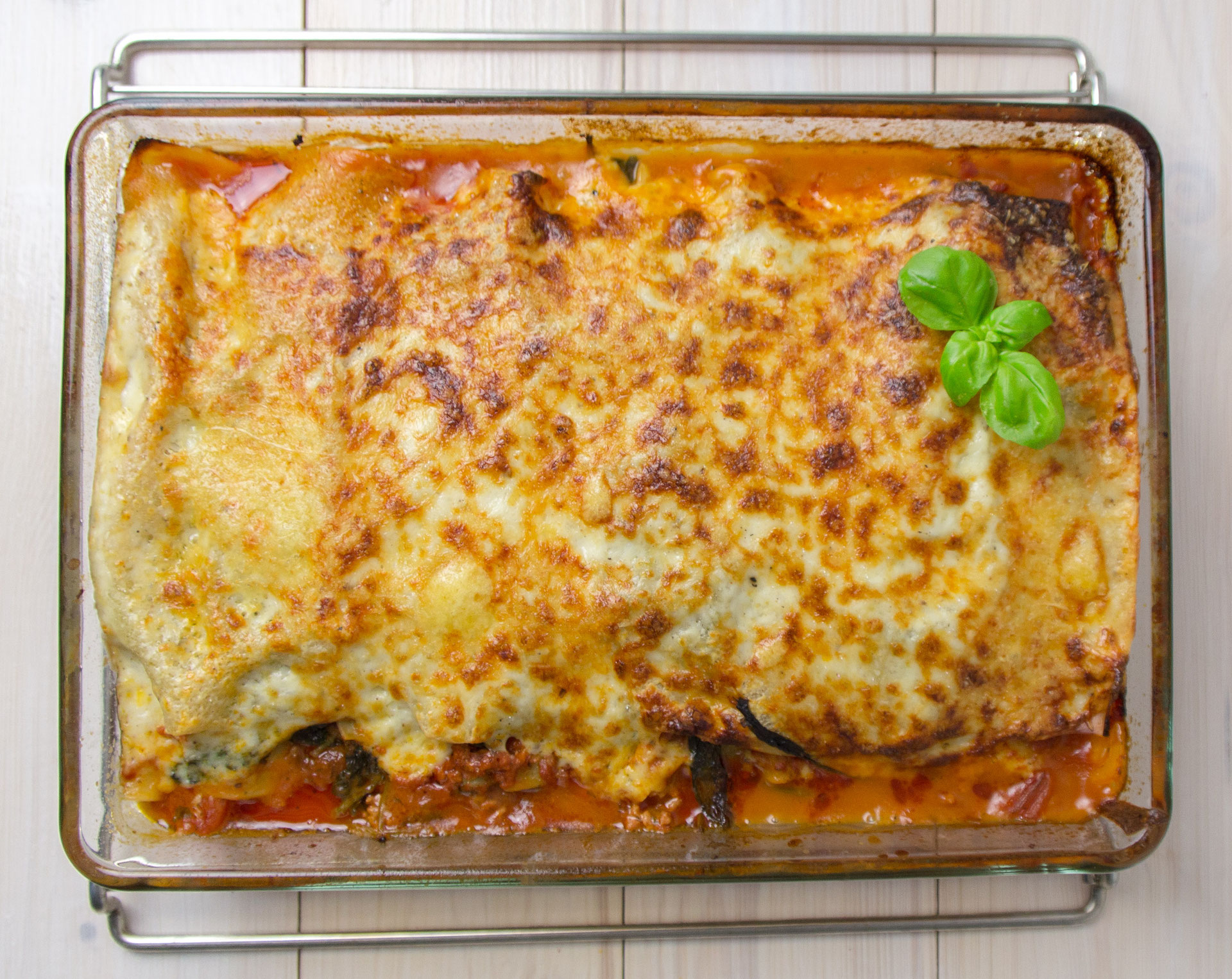 lasagne al forno mit spinat rezepte f r steamer und dampfgarer foodblog. Black Bedroom Furniture Sets. Home Design Ideas