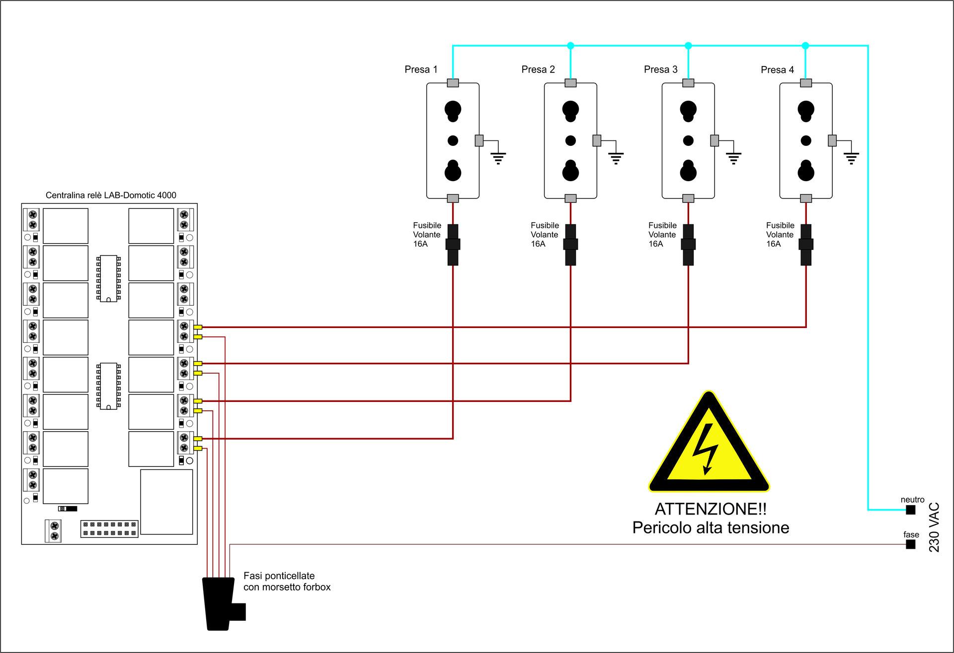 Finder Rele Schemi Elettrici : Schemi elettrici rele relay interface interfacce a relè