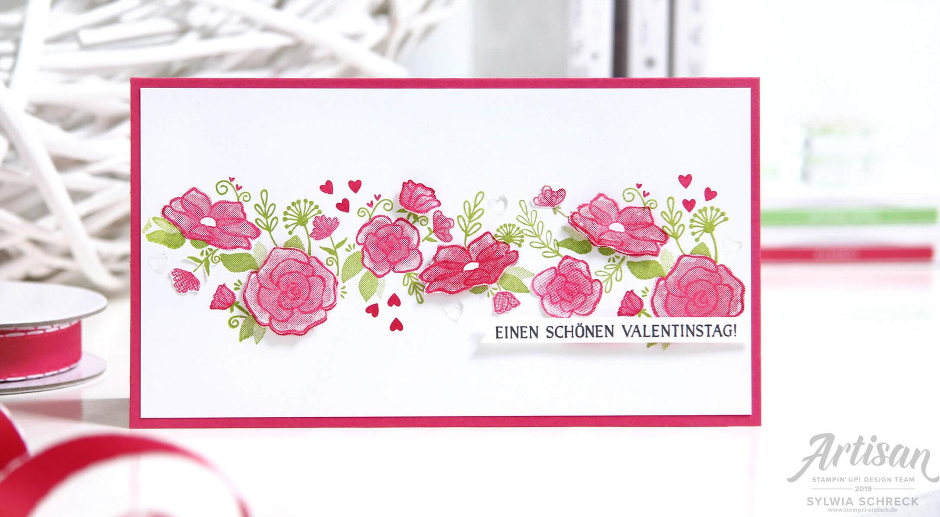 Einen Schönen Valentinstag Stempel Einfach