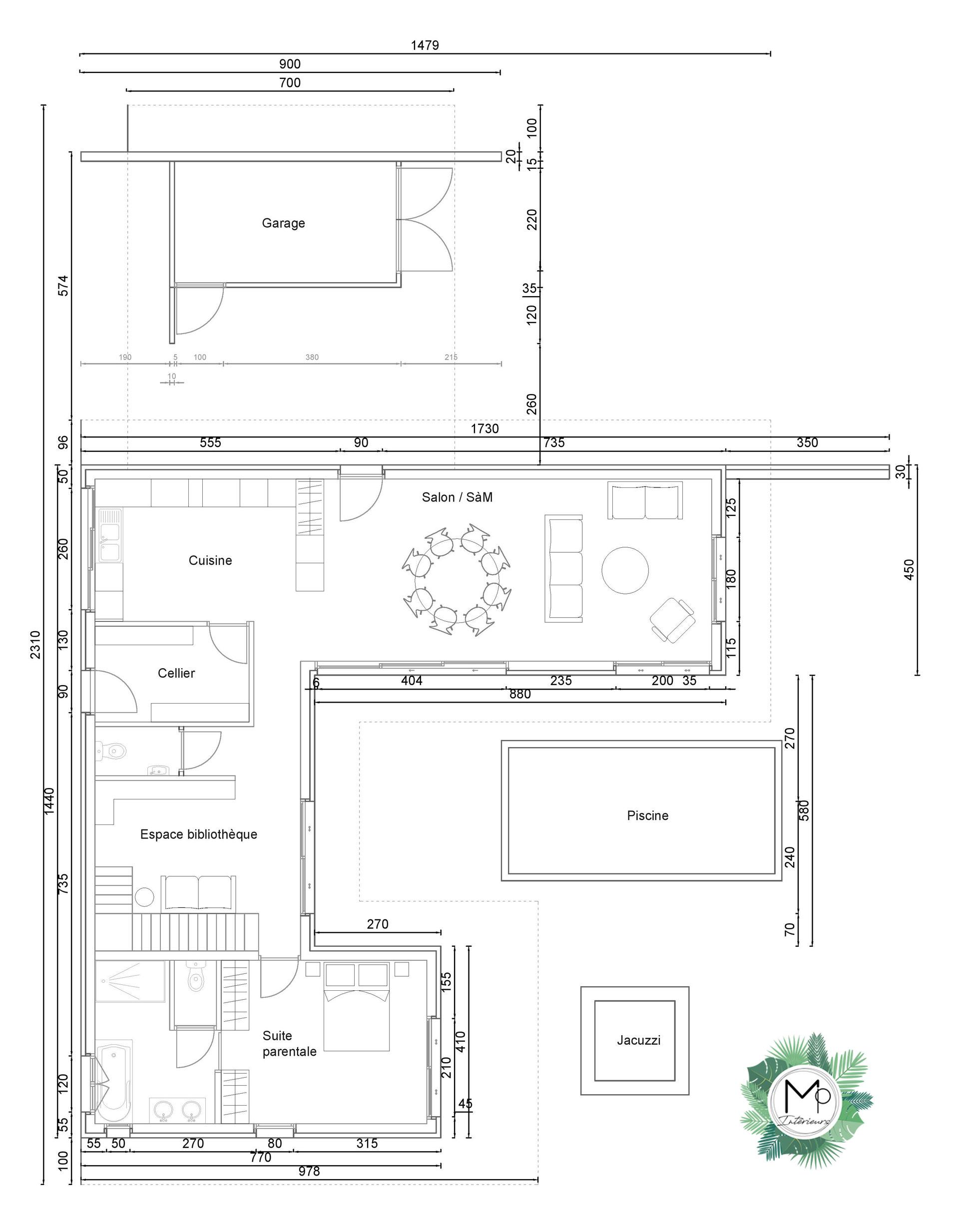 Plans maisons architecture - Architecte d'intérieur Bordeaux UFDI 33