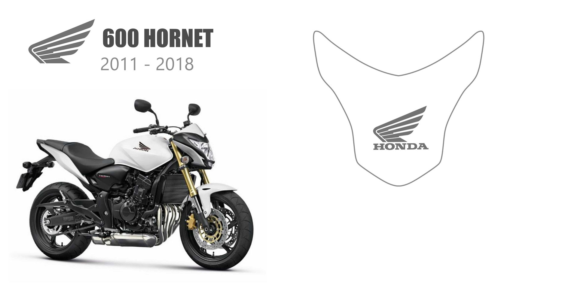 Honda Hornet 2011 2018 Caches Phares Moto Djs Stickers