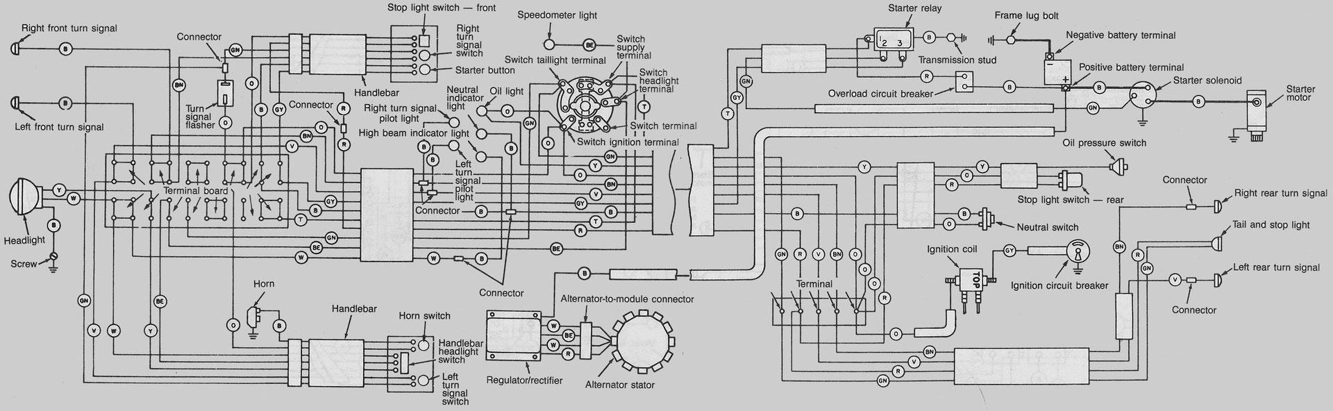 Harley Davidson Fl Wiring Diagrams Car Electrical Wiring Diagram
