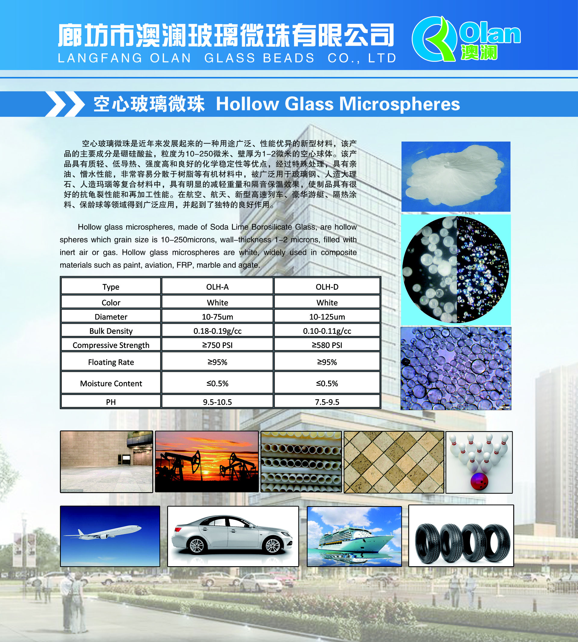 Hollow Glass Microspheres-Langfang Olan Glass Beads Co , Ltd - Olan