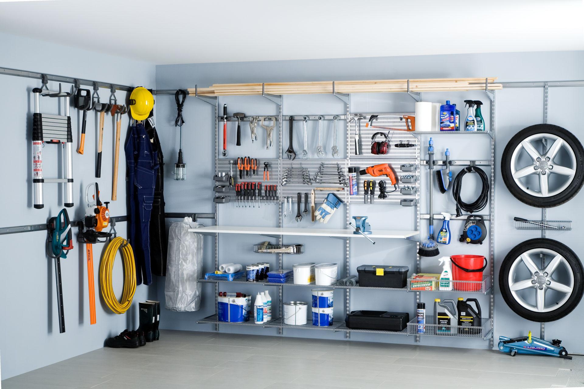 regalsysteme garage garagenregal hauswirtschaftsraum schaub schranksysteme. Black Bedroom Furniture Sets. Home Design Ideas