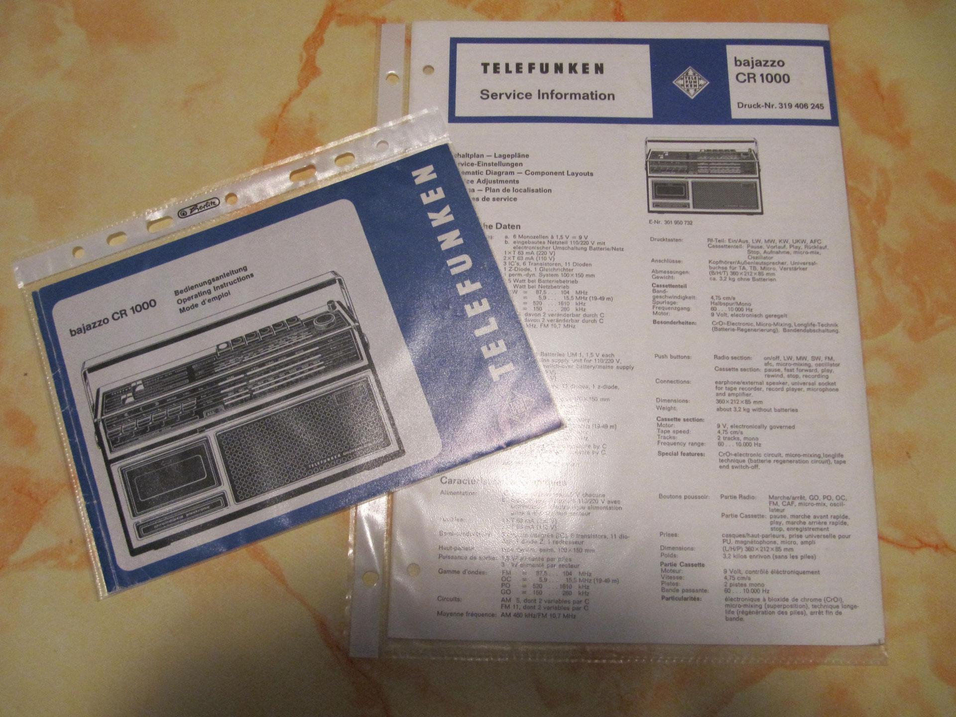 Service Manual-Anleitung für Grundig RR 1140