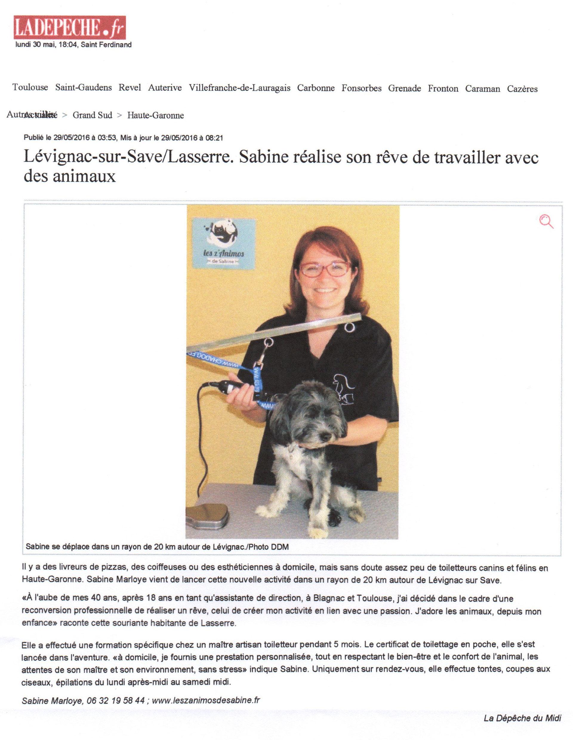 Articles de presse les z 39 animos de sabine for Espaces verts du languedoc