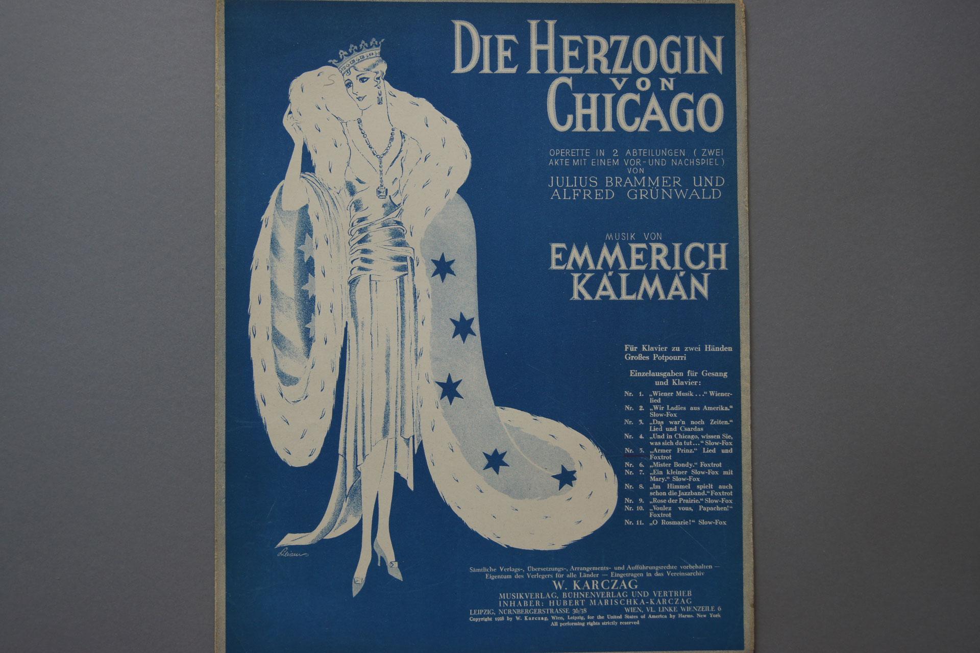 Die Herzogin von Chicago - notenmuseum