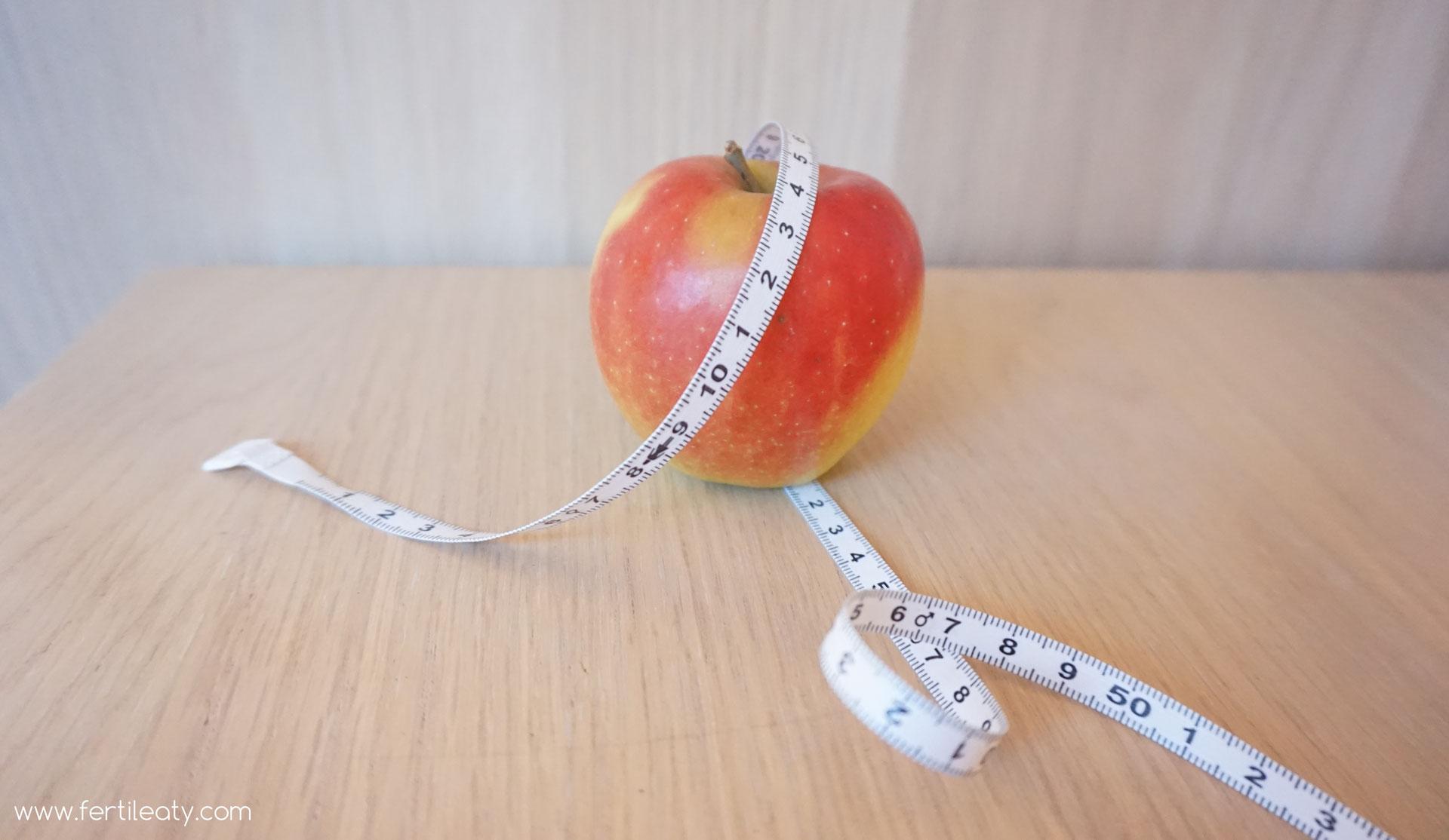 Obst und Gemüse, um den Bauch abzunehmen