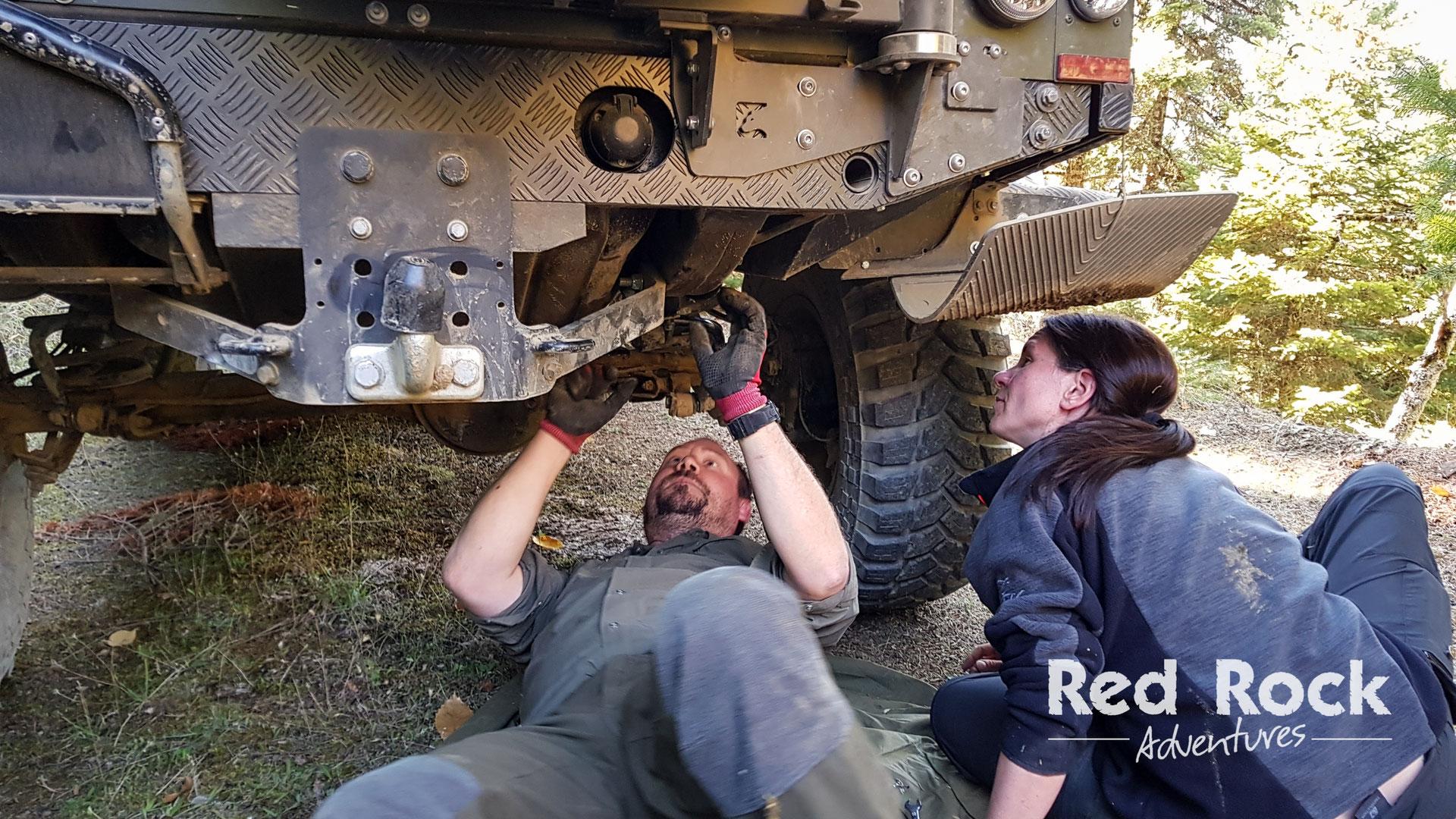 Land Rover Defender Workshop Ii Red Rock Adventures