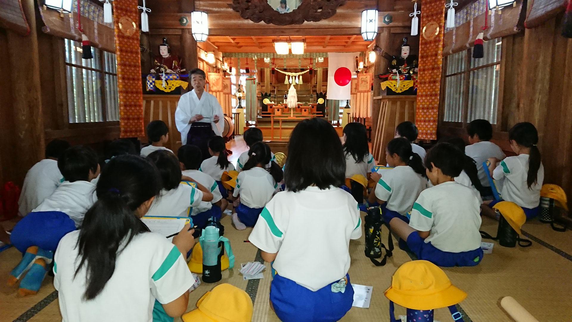 児童たちの課外授業