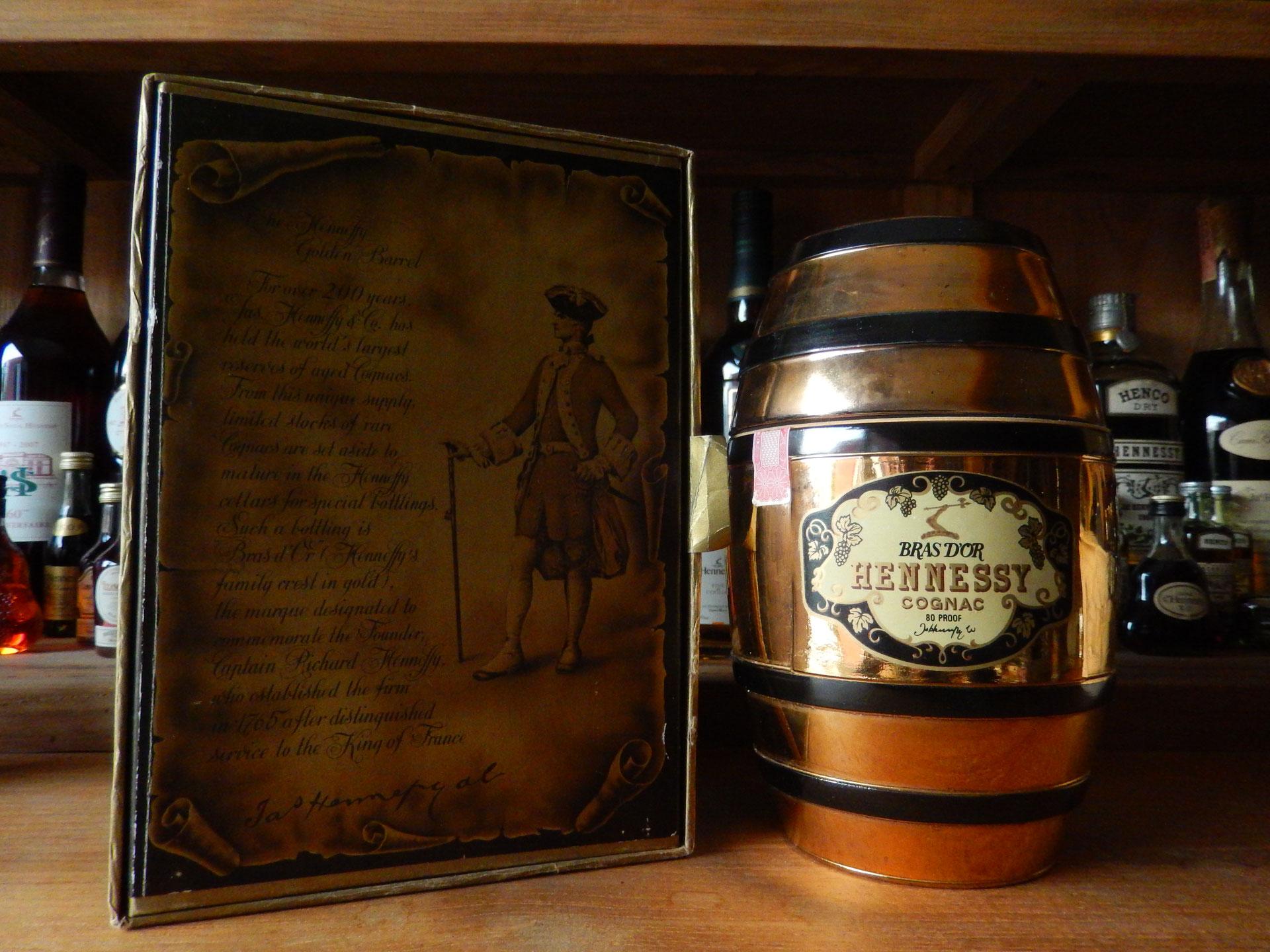 Bras d'Or gold barrel - Website of donhenny-hennessycollector!