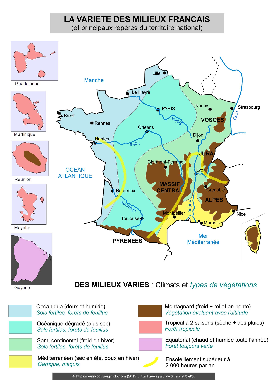 CROQUIS DE GÉOGRAPHIE (2nde) - Les repères (reliefs, fleuves, agglomérations) et les principaux ...