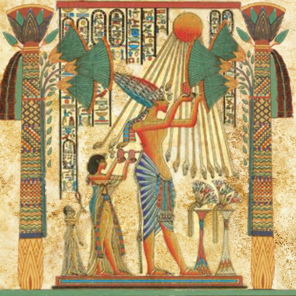 Ägyptische Kunst - Malerei der alten Ägypter - Lichtkreis