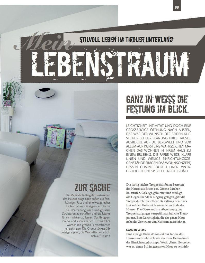 Ganz in Weiß die Festung im Blick - Moderatorin Adriane Gamper / Tirol