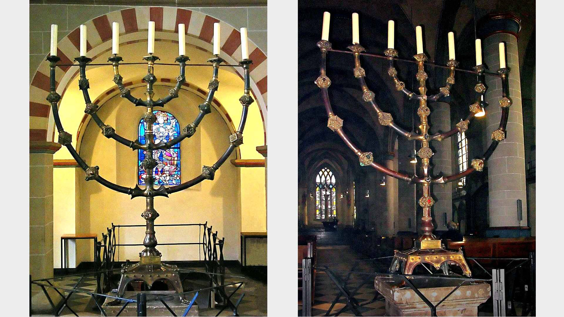 Ancient And New Menorahs 11th 13th Century Divisions Structure Menorah Lighting Diagram Bible