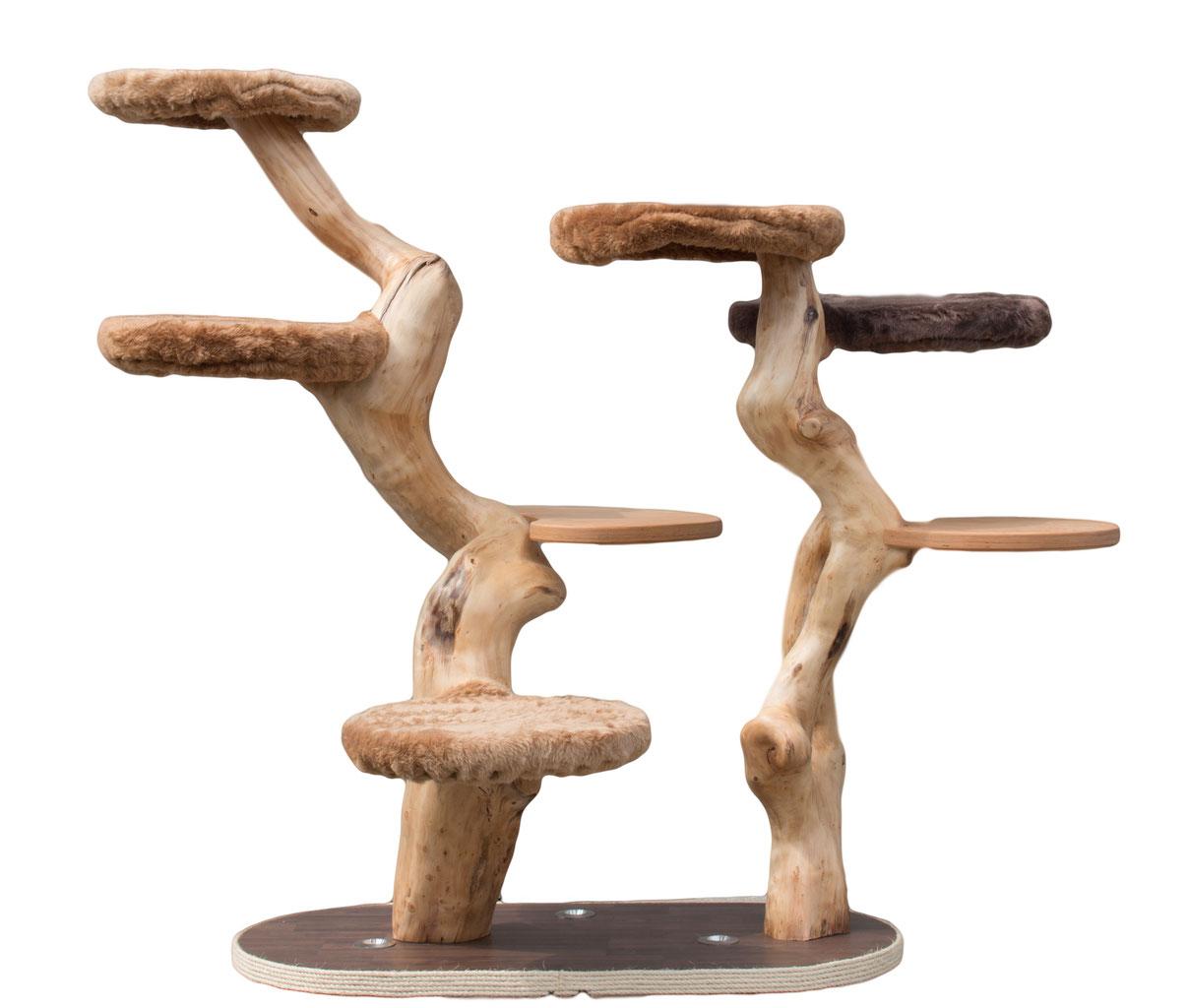 kratzb ume aus naturholz lebens t r ume f r katze und. Black Bedroom Furniture Sets. Home Design Ideas