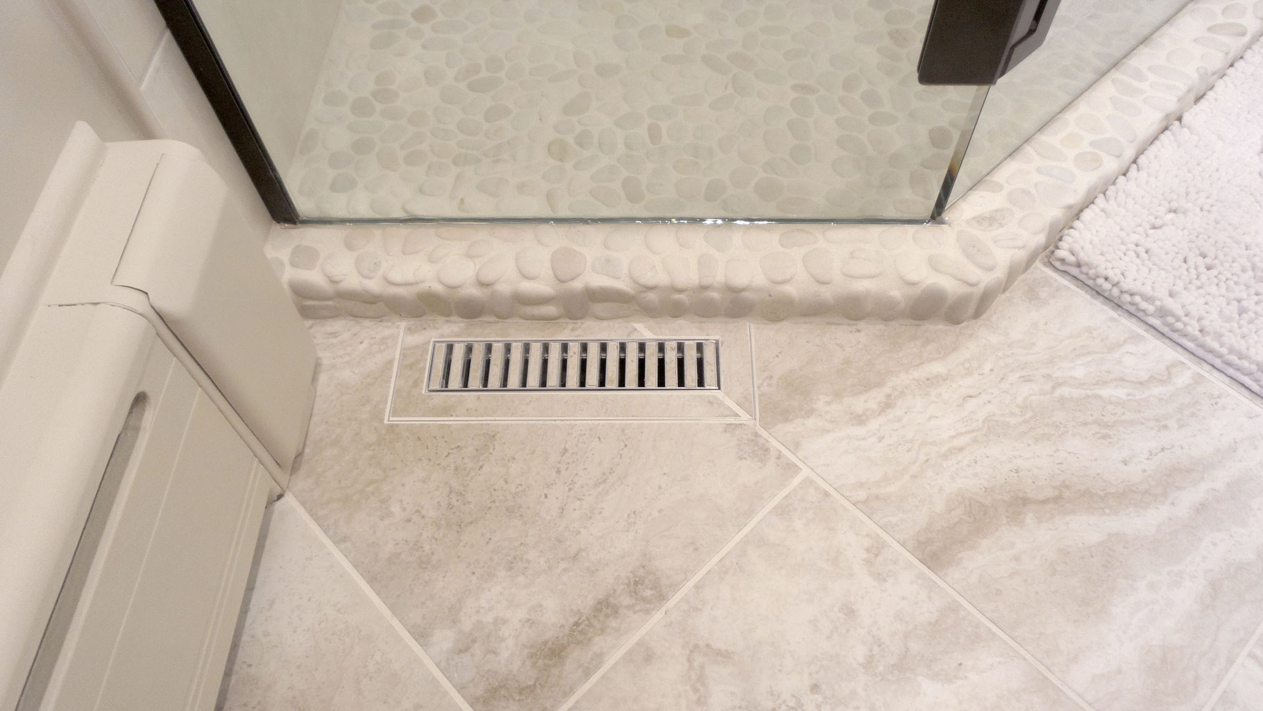 Bathroom Floor With A Tiled Heat Register In White Tile Jpg
