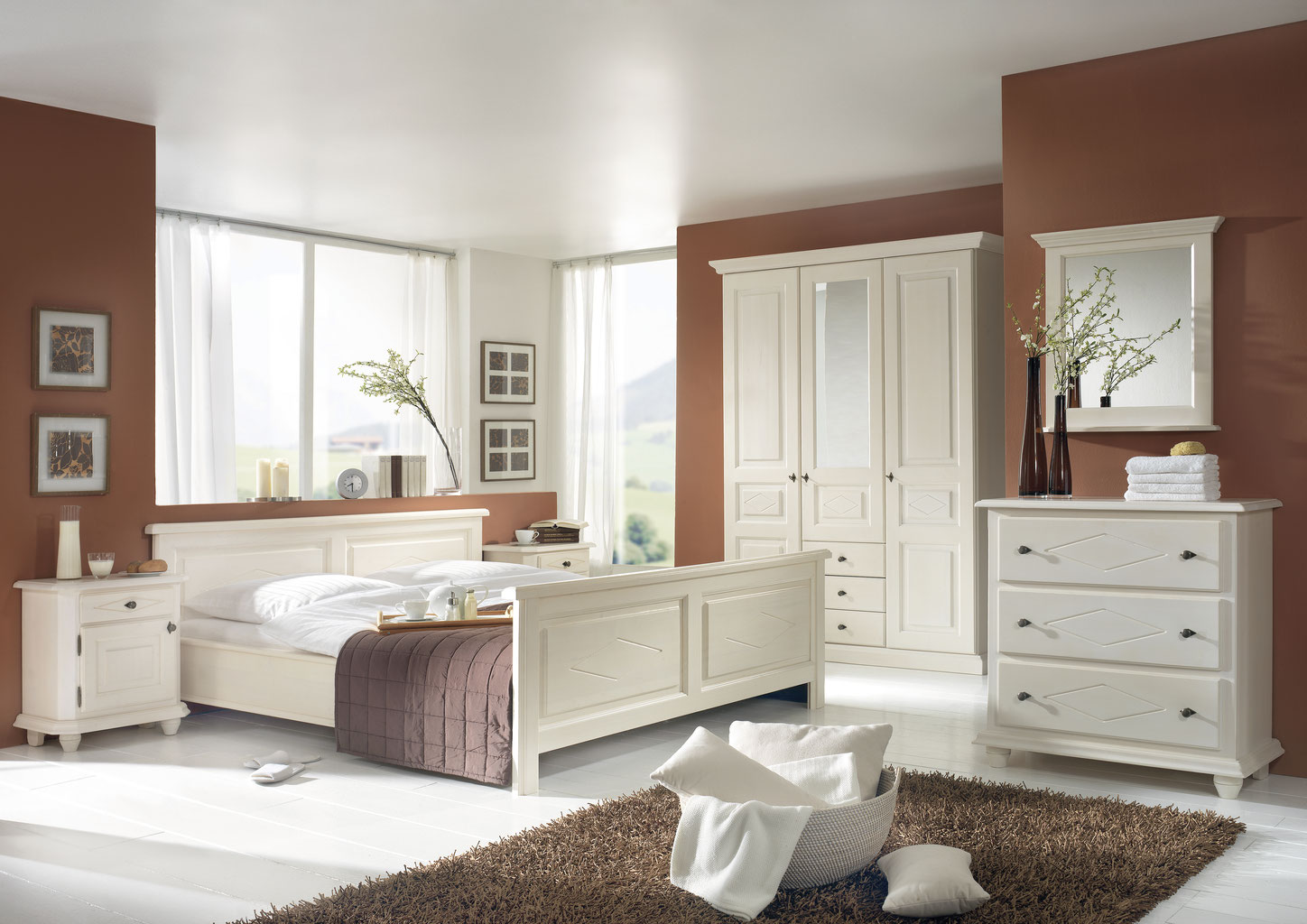 romantisches schlafzimmer naturnah m bel moderne. Black Bedroom Furniture Sets. Home Design Ideas