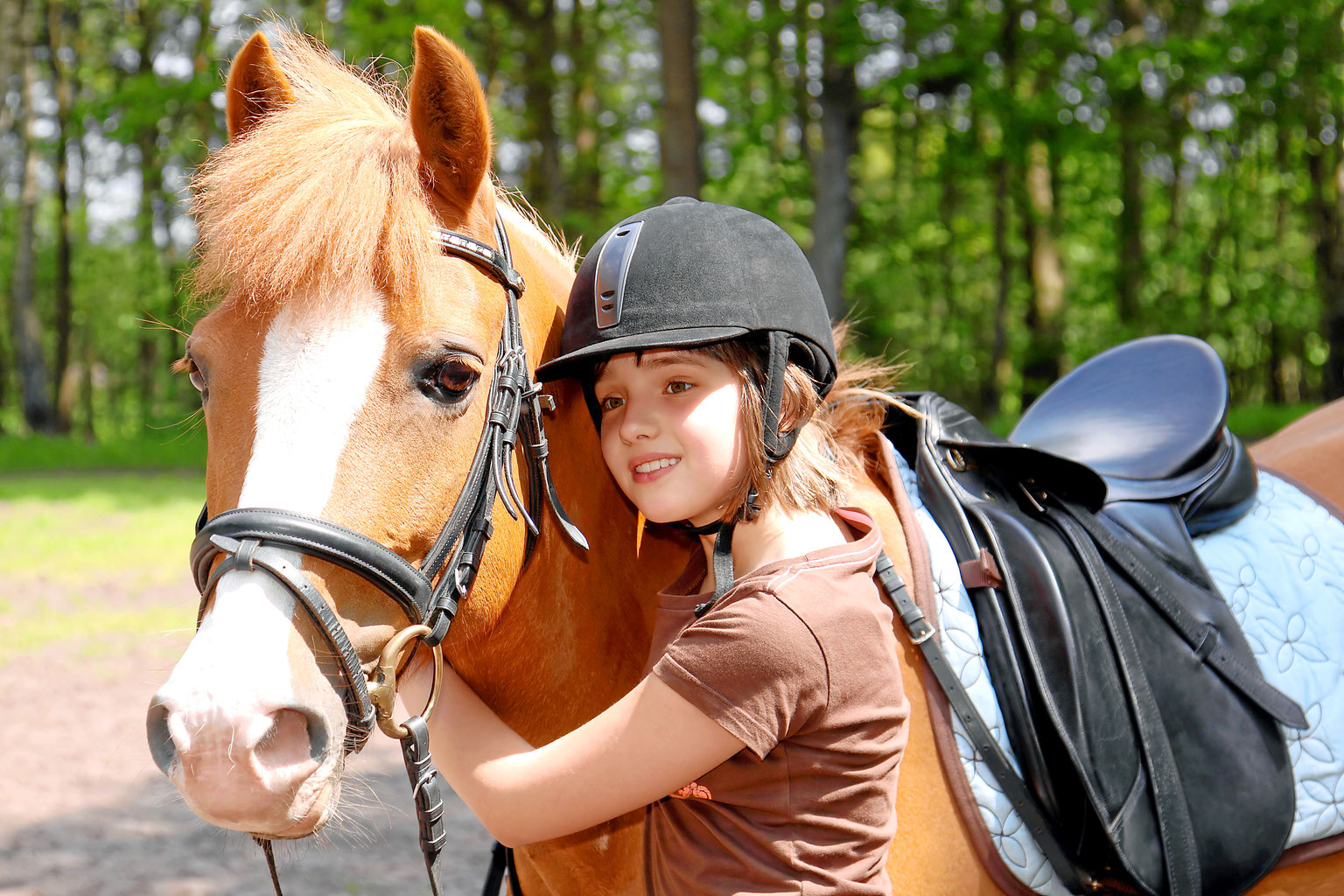 children learning how to ride a horse  wellfounded