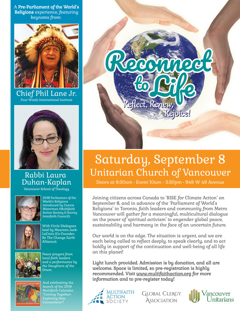 Reconnect to Life: Reflect, Renew, Rejoice - Multifaith Action Society