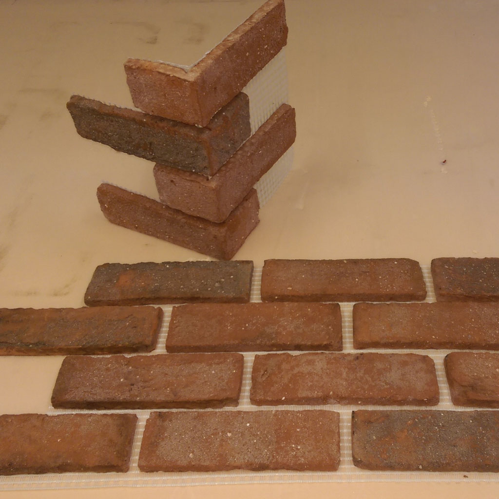 London Weathered Yellow Brick Slips Brick Bond Solutions