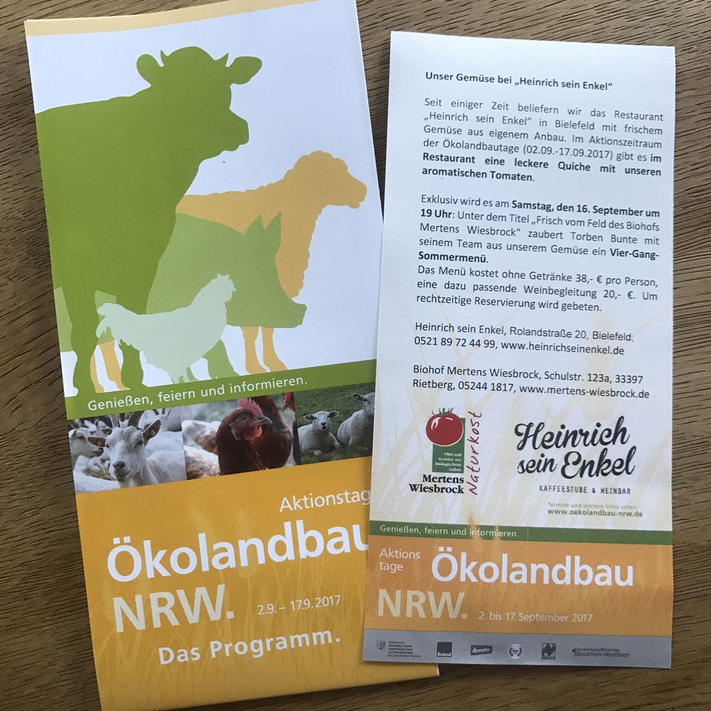 Aktionstage Ökolandbau NRW mit dem Biohof Mertens-Wiesbrock ...