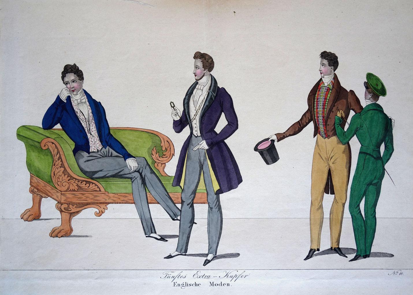 herrenmode des fr hen 19 jahrhunderts epochs of fashion ladies costume through the ages. Black Bedroom Furniture Sets. Home Design Ideas