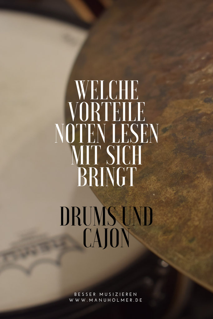 Kostenlose Noten - Manu Holmer - Schlagzeug- und Wortspielerin