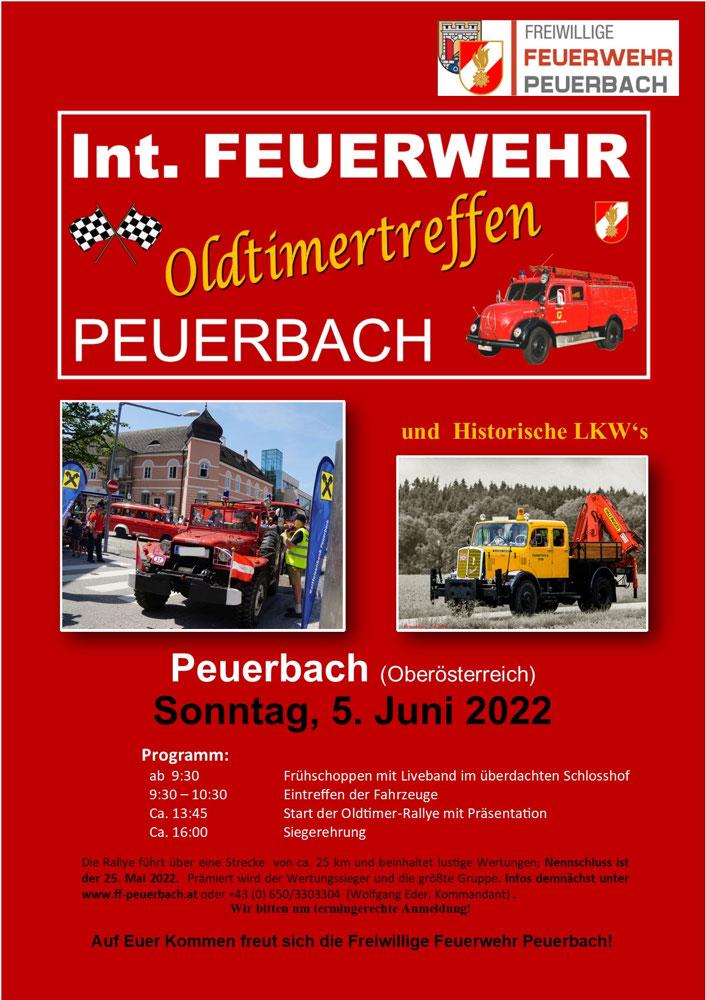 Groes Feuerwehroldtimer-Treffen in Peuerbach