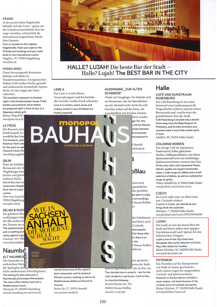 Presse - LUJAH Bar - Restaurant - Lounge