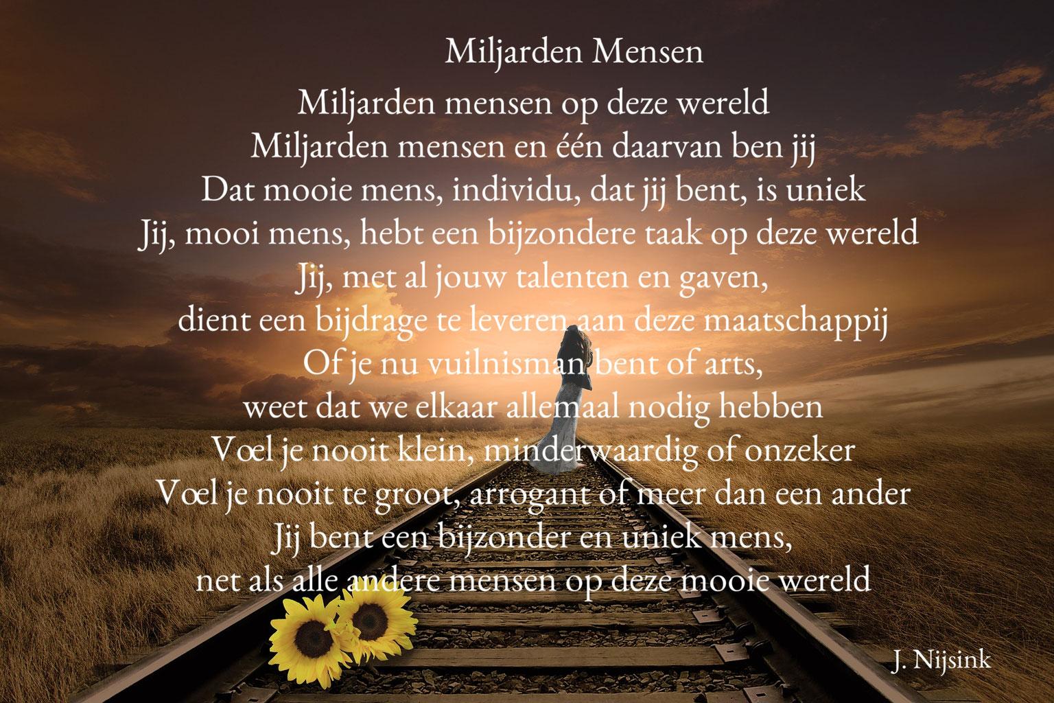 Gedicht Miljarden Mensen Bijzondere Gedichten En Citaten