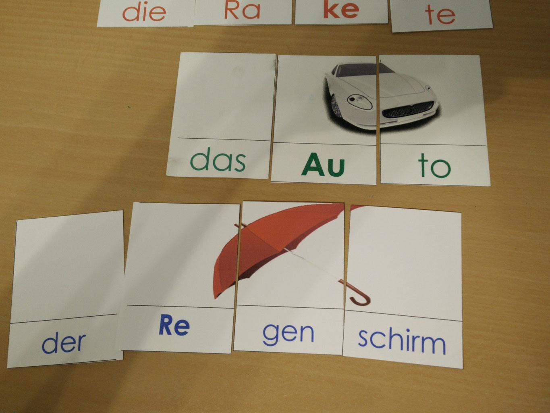 Silben lesen   deutsch20alle   Materialien DaZ von der ...