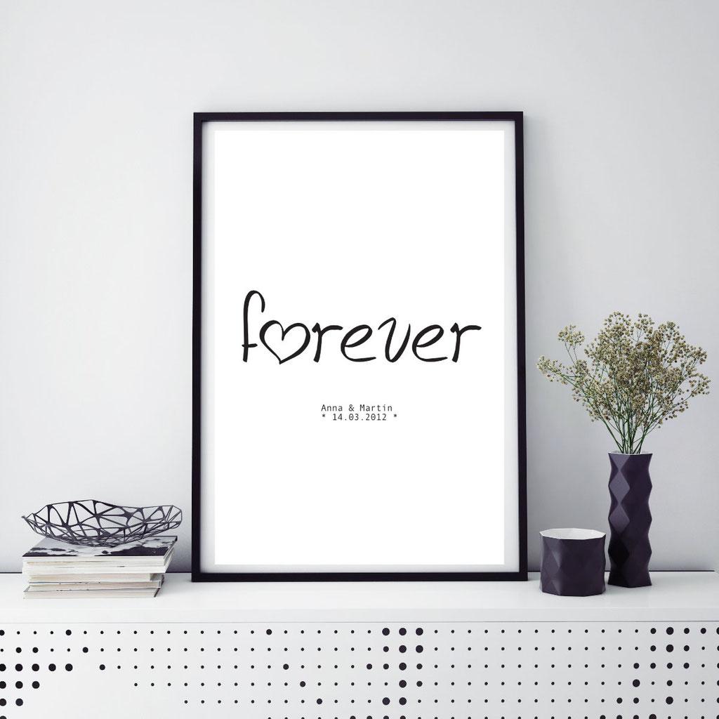 typografie poster mit originellen spr chen bequem online kaufen creative lifestyles. Black Bedroom Furniture Sets. Home Design Ideas